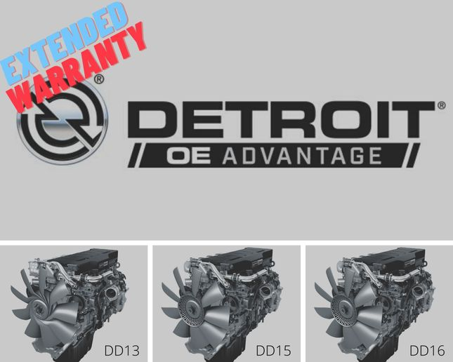 Detroit OE Advantage provides comprehensive coverage, similar to other Detroit extended warranties, with multiple plan options and terms of one year/125,000 miles or two years/250,000 miles. - Photos: DTNA