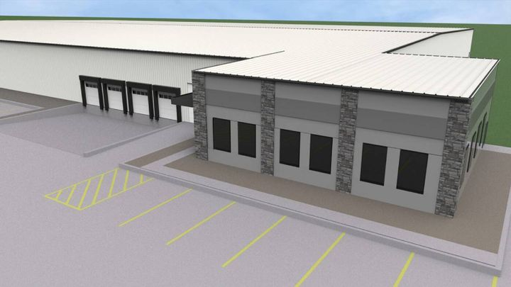 Link Manufacturing's new 50,000-square-foot manufacturing and training facility will be connected to its existing plant 3 building in Sioux Center. - Photo: Link Manufacturing