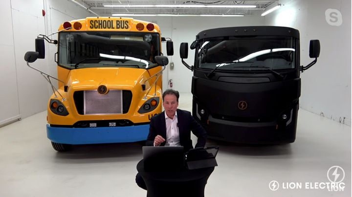 Marc Bedard, CEO and founder of Lion, participating virtually in a press conference announcing the new Illinois manufacturing facility. - Photo: Screen shot from press conference live stream