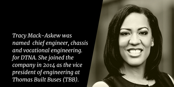Tracy Mack-Askew,chief engineer, chassis and vocational engineering for DTNA.