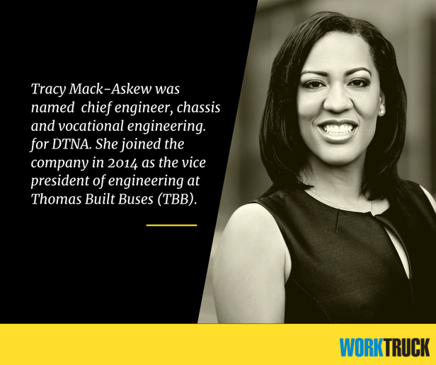 Tracy Mack-Askew,chief engineer, chassis and vocational engineering for DTNA. - Photo: DTNA