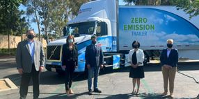 Albertsons' Zero-Emission Refrigerated Grocery Delivery Fleet