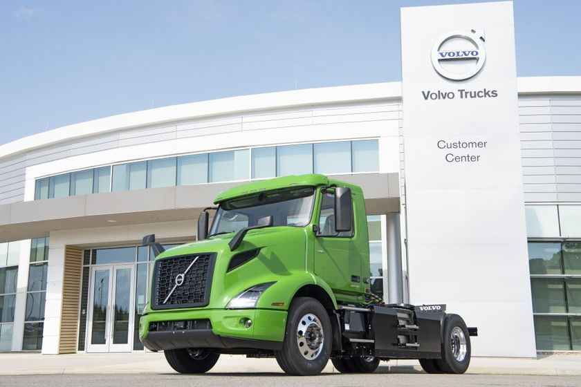 TheVNR Electric models from Volvo Trucks North America will service the delivery fleet's routes...
