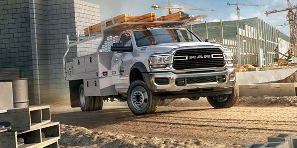 The 2021-MY Ram Chassis Cab is among the vehicles being recalled for wheel stud issues.