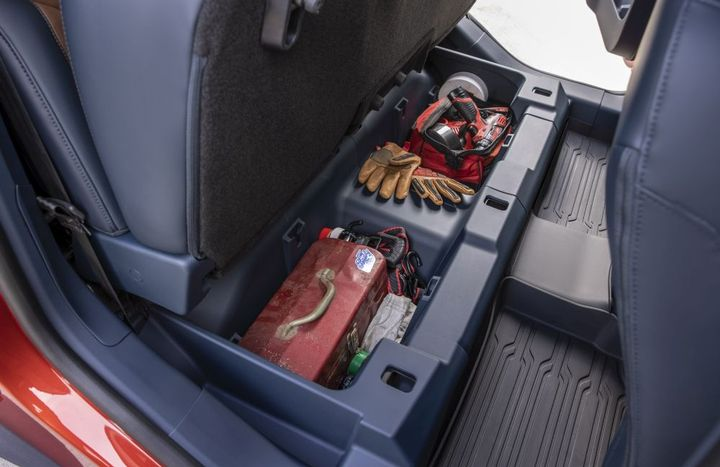 Additional storage is provided throughout the compact pickup. - Photo: Ford