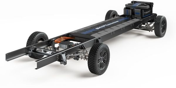 The EV chassis can serve last mile delivery, work truck, recreational, mass transit, and other...