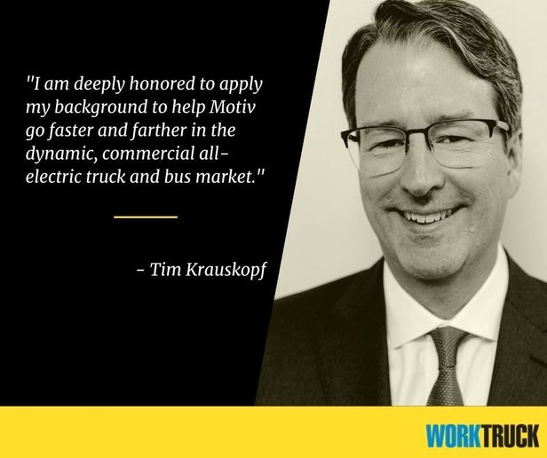 Tim Krauskopf was named Motiv's new Chief Executive Officer (CEO), effective July 6, 2021. - Photo: Motiv