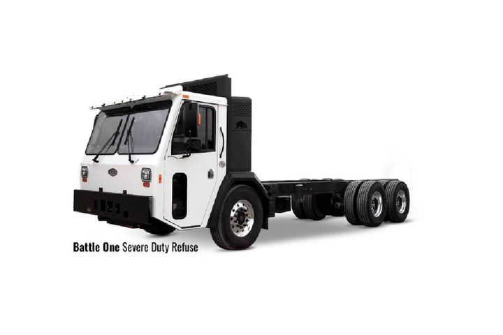 Liberty Ashes will be using the Battle One Severe Duty Refuse (formerly LET) and Battle One Crew Cab (formerly LET2) trucks to service customers in the Manhattan, Brooklyn, Queens, Bronx, Nassau, and Suffolk areas. - Photo: Battle Motors