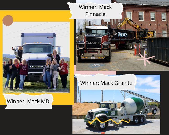 Mack announced the winners of the 2022 Mack Trucks Calendar Contest. Pictured are winners from the Mack Pinnacle, Mack Granite, and Mack MD categories. - Photo: Mack Trucks