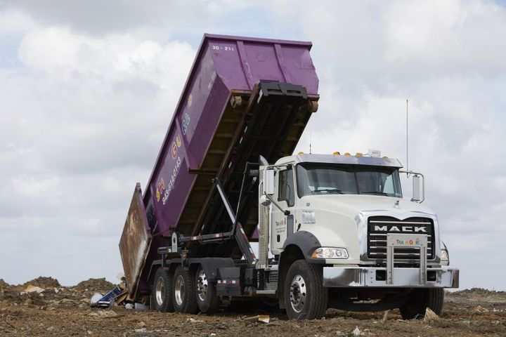 The Poluttas began their business with one truck and 10 cans. They now operate 40 trucks and continue to call on Mack as they look to further expand. - Photo: Mack Trucks