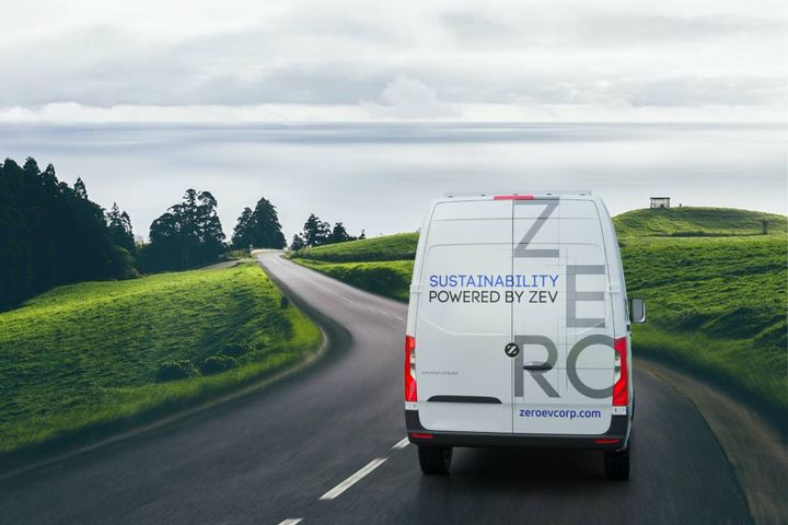 Zero Electric Vehicles has announced its first Mercedes Benz Sprinter 2500 electric vehicle conversion was certified by the State of Arizona as a qualified zero-emissions vehicle. - Photo: ZEV