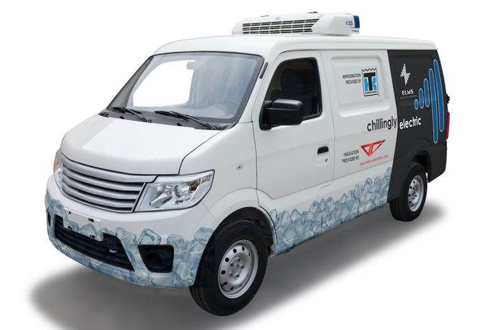 Thermo King will integrate its E-200 all-electric refrigeration unit into the ELMS' Urban Delivery electric vehicle (EV). - Photo: Thermo King