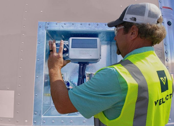 As a Phillips Connect partner, Velociti will manage parts inventory, process RMA's and provide real-time visibility, and provide trailer maintenance based on real time visibility from Phillips Connect smart sensors. - Photo: Phillips Connect
