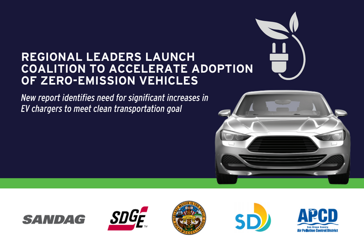 The Accelerate to Zero Emissions coalition – consisting of 13 entities, including the region's largest cities – aims to make it easier for local residents and businesses to transition to electric vehicles (EV), plug-in hybrids, and hydrogen fuel cell vehicles.  - Photo: SG&E