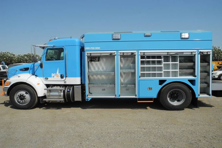 The initial pilot of 12 vehicles will include dump trucks, heavy gas crew trucks, and gas mechanic trucks and will be conducted during 2022 and 2023. - Photo: PG&E
