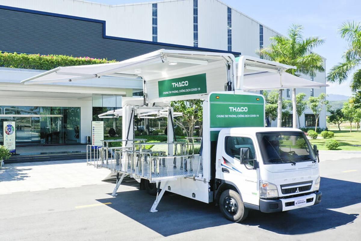 Thaco Donates 126 Canter Trucks to Vietnam's COVID-19 Vaccination Campaign