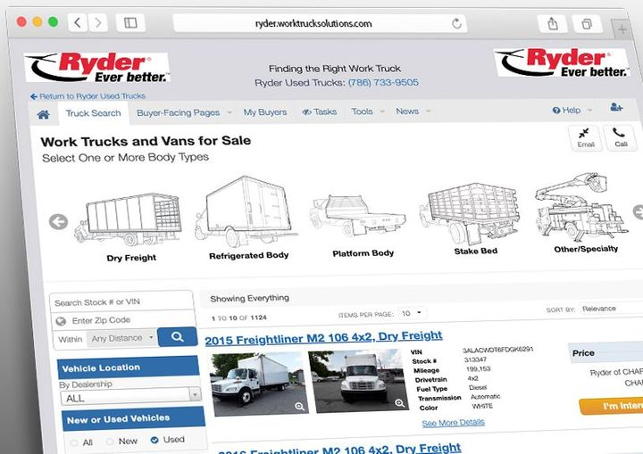 Rydernow has the ability to display its inventory to both the end-user on Comvoy.com and directly to customers on VAST through this expanded partnership with Work Truck Solutions. - Photo: Work Truck Solutions