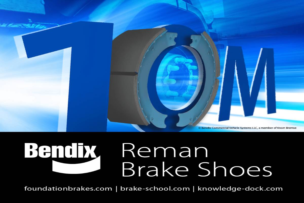 Bendix Reaches Milestone for Remanufactured Brake Shoe Production