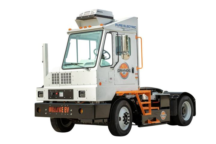 Orange EV, a heavy-duty electric vehicle solutions company, has announced a multi-year agreement with yard management firm Lazer Spot to manufacture and deliver more than 25 EV trucks in 2021 and 2022. - Photo: Orange EV