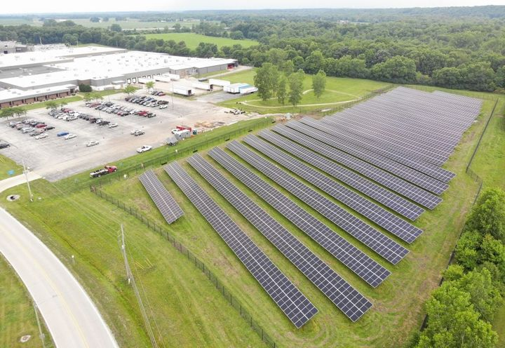Indianapolis-based PSG Energy Group managed construction of the array, which is now the largest on-site solar installation in Huntington County, Indiana. - Photo: Bendix
