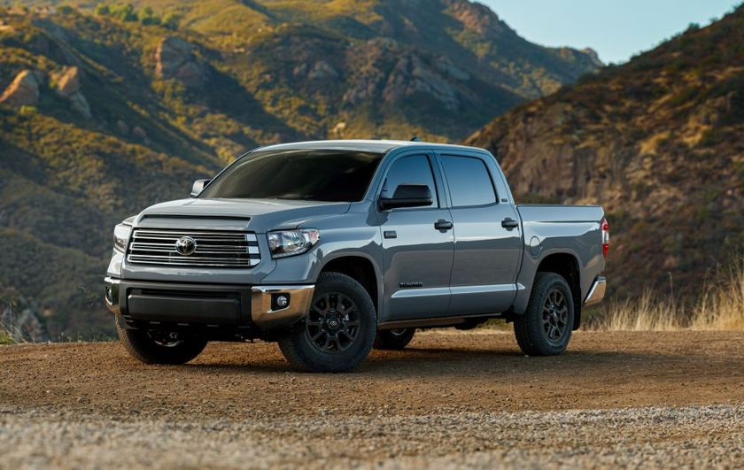 The 2021 model-year Toyota Tundra is among the models recalled for headlight electrical issues.