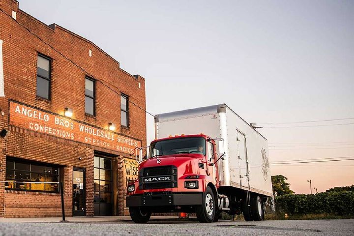 The company is recalling certain 2020-2022 medium-duty trucks for the issue, which could result in an unsecured brake pedal. - Photo: Mack Trucks
