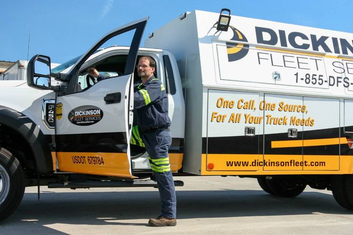 Technician safety, culture, recruitment, and training remains top priority for the mobile fleet maintenance and repair company. - Photo: Dickinson Fleet Services