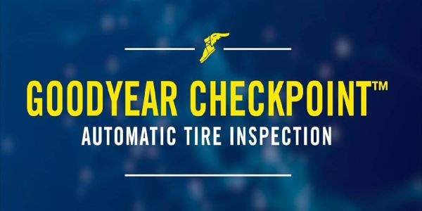 Goodyear CheckPoint is a drive-over-reader device that automatically inspects tire pressure and...