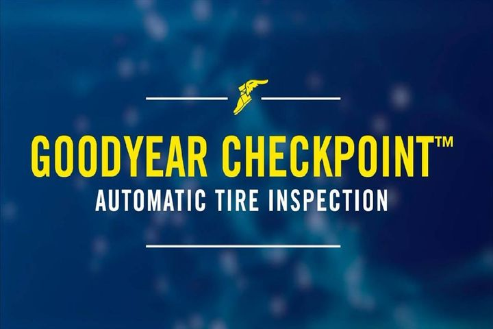 Goodyear CheckPoint is a drive-over-reader device that automatically inspects tire pressure and tread depth. - Photo: Goodyear
