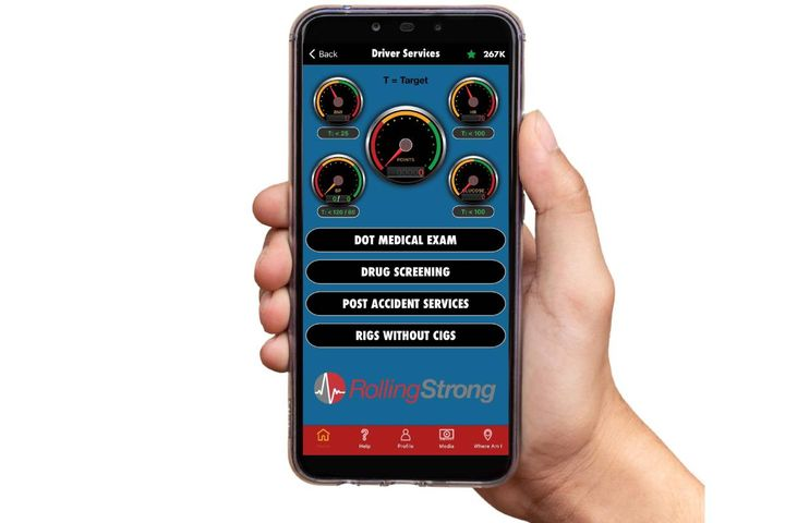 The driver health and wellness platform is providing participants in the St. Christopher Truckers Relief Fund diabetes prevention program with a free six-month membership to the Rolling Strong app. - Photo: Rolling Strong