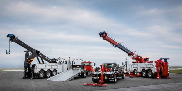 The Jerr-Dan lineup, featuring medium- and heavy-duty carriers, wreckers, and,   rotators,...