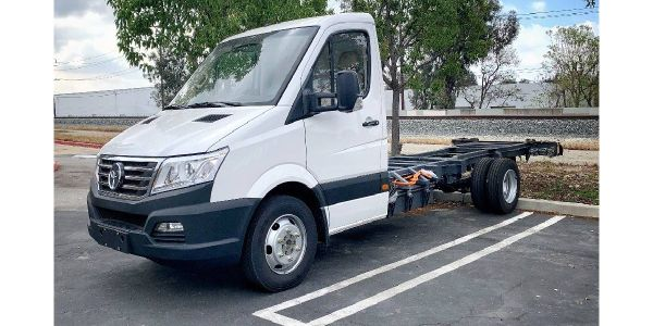 The purpose-built cab and chassis delivers a carrying capacity up to 7,000 lbs. and a range of...