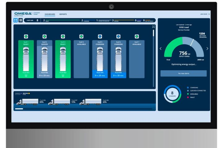 Amply helps fleet manage their energy infrastructure and charging needs for their electric vehicle operations through its full-scale charge management system. - Photo: Amply