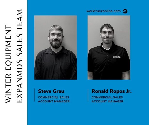 Winter Equipment announced the additions of two new members to its commercial sales team. - Photos: Winter Equipment