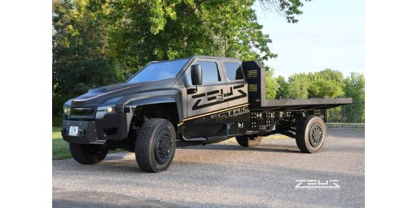 Zeus Electric Chassis, EAVX Collaborate on EV Work Trucks