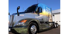 Kenworth T680 Features Special Design for Capitol Christmas Tree Tour