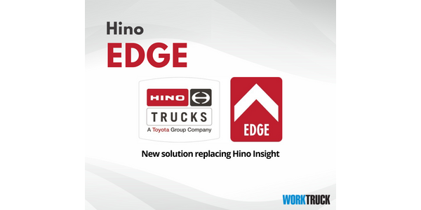Hino customers will receive five years of complimentary access to Edge's fleet management web...
