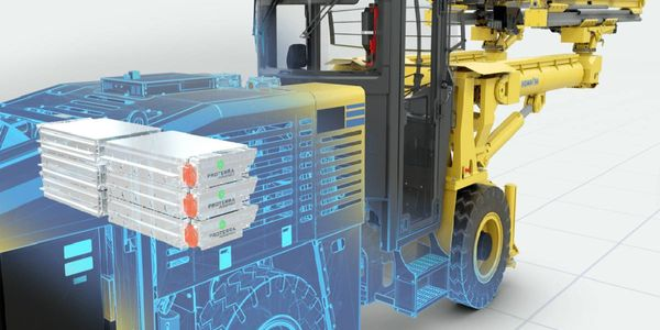 Komatsu is developing battery-electric load haul dumps, drills, and bolters with Proterra...