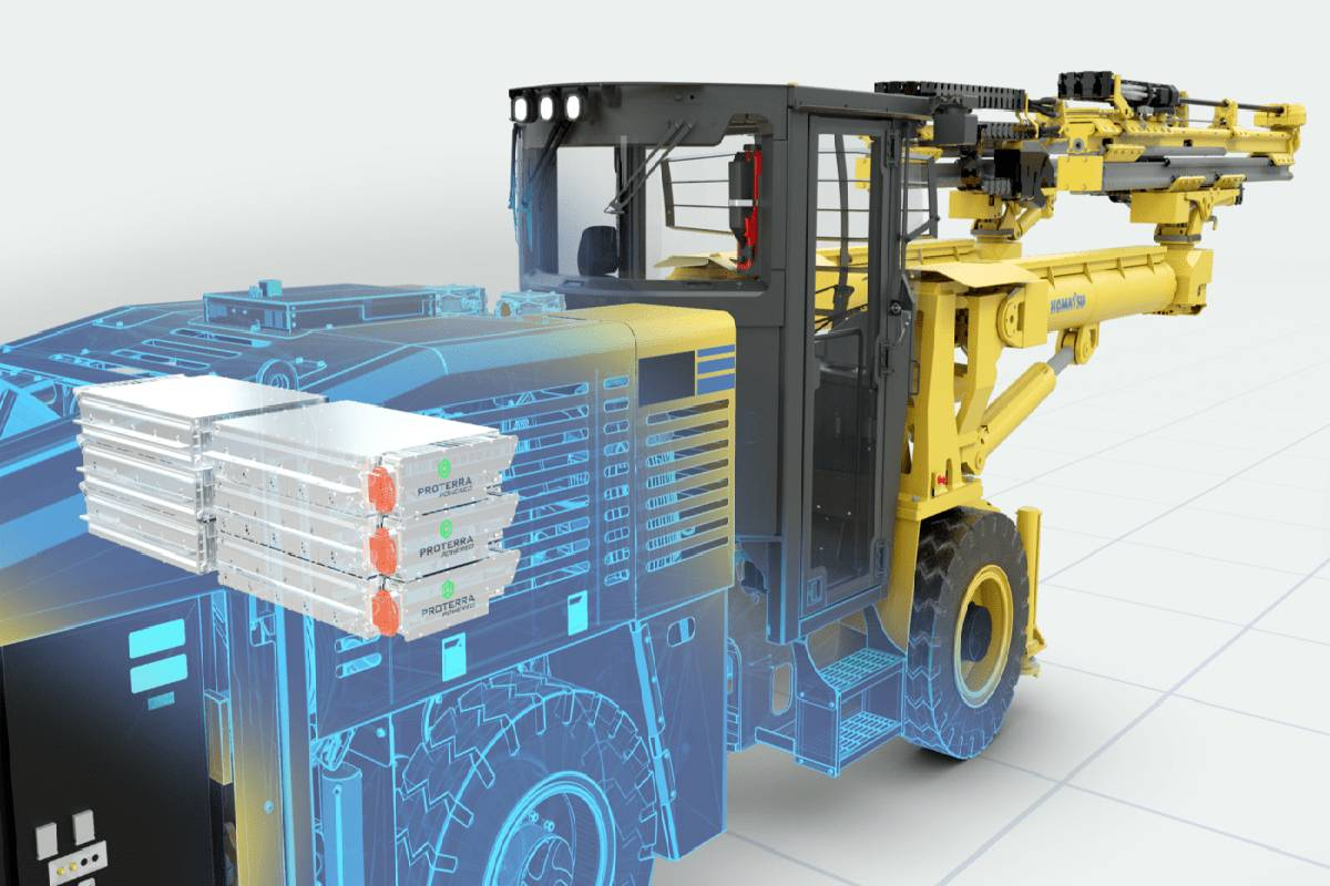 Proterra, Komatsu to Electrify Underground Mining Machines