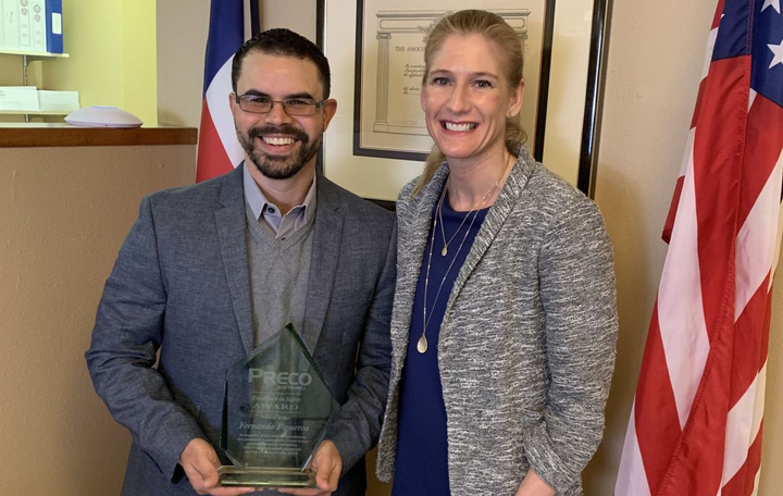 PRECO Electronics named Fernando Figueroa, president and co-founder of Curv Compliance as the 2018 Excellence in Safety Award recipient.