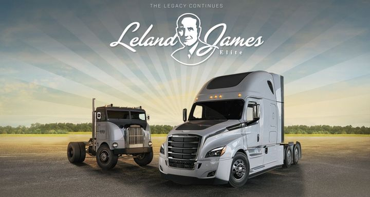 Created in 2003 and named in honor of Freightliner Trucks' founder, Leland James, the program recognizes and rewards outstanding sales results from dealer sales professionals in the United States and Canada.  - Image courtesy of Freightliner