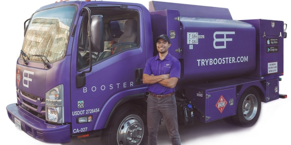 Booster's new offering includes regular, premium and diesel on-site fuel delivery direct to...