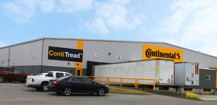 The pre-cured tread plant is realizing efficiencies thanks to its sophisticated manufacturing equipment, as well as its location on Continental's Mount Vernon campus, home to one of the largest rubber mixing operations in North America.