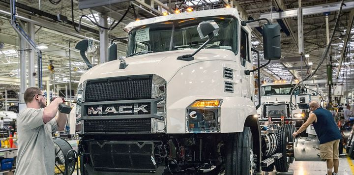 The United Auto Workers union officially ratified a four-year collective bargaining agreement between Mack Trucks and its manfuacturing facility workers. - Photo via Mack Trucks