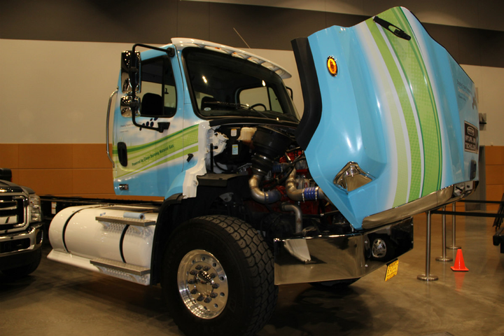 A number of alternative-fuel vehicles were available for GTSE attendees to check out.