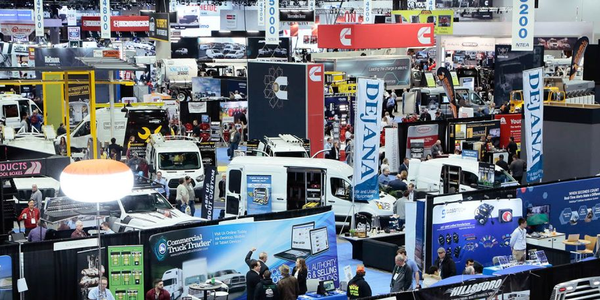 Thousands of attendees explore the industry's newest commercial truck and equipment offerings at...