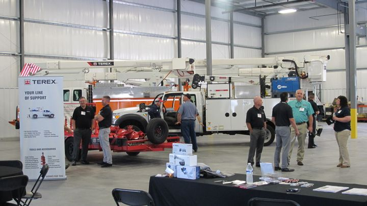 Terex opened a new 35,000-sq.-ft. service center in Lancaster, Pa.  - Photo courtesy of Terex Utilities