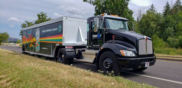Bigfoot Beverages relies on Kenworth T370s purchased through Papé Kenworth – Eugene in its fleet of medium- and heavy-duty tractors.  - Photo: Kenworth