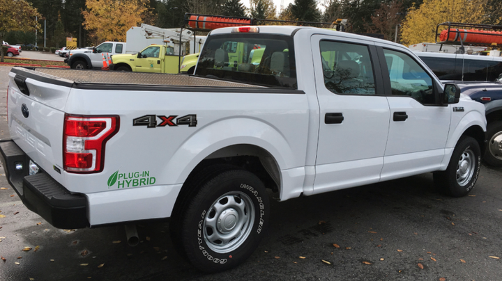 The new Ford XL F-150 light-duty truck will be used in all areas around the state including maintenance, construction and project engineering.  - Photo courtesy of Washington DOT.
