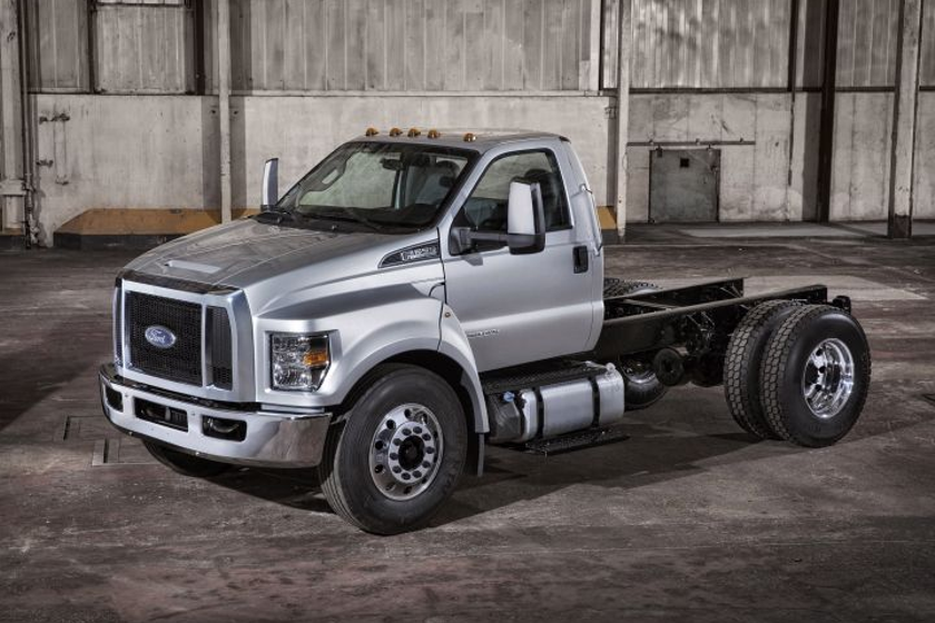 Ford's 2018 F-650 (shown) and F-750 trucks have been recalled for a brake hose defect.